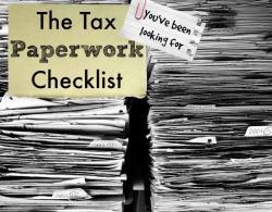 Ann Hartz's Tax Paperwork Checklist